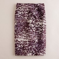 Watercolor leopard skirt