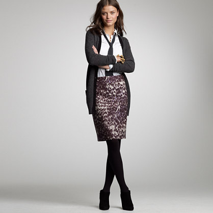 Watercolor leopard skirt