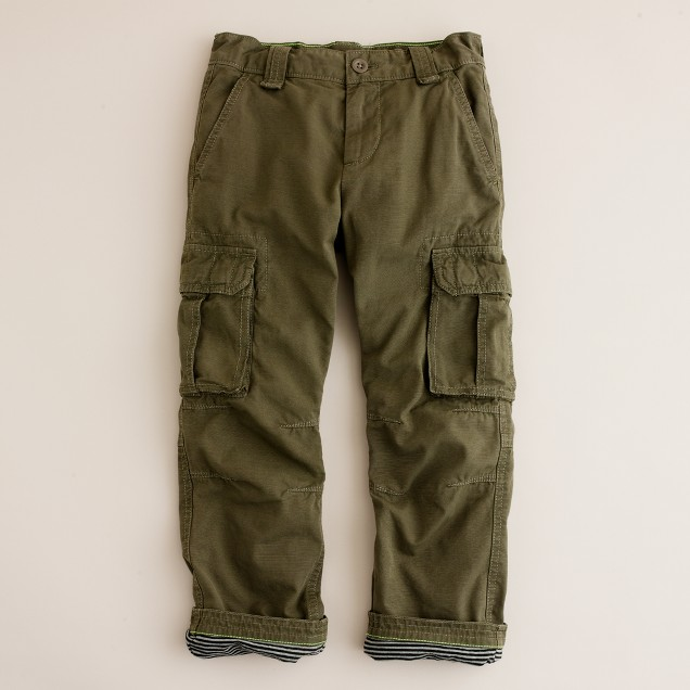 Baby Boys' Lined Cargo Pant. from $ 14 29 Prime. 5 out of 5 stars 1. Menschwear. Mens Fleece Lined Winter Cargo Pants Winter Heavyweight with Belt $ 55 5 out of 5 stars 1. Wrangler. Authentics Men's Big & Tall Classic Twill Relaxed Fit Cargo Pant $ 25 99 Prime. out of 5 stars JD Apparel.
