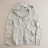 Jaspé zip-front hoodie