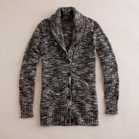 Marled wool cardigan