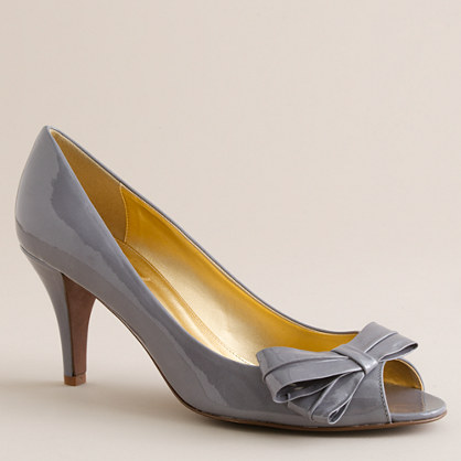 Pippa patent peep toes