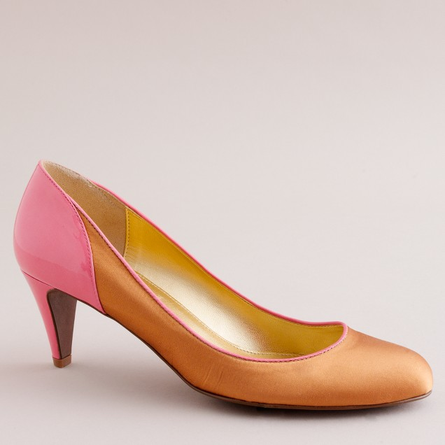 Darcy satin-and-patent pumps