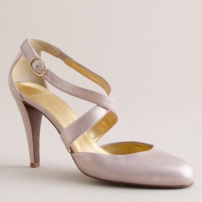 Marlene crisscross platform heels