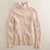 Cambridge cable ribbed turtleneck sweater