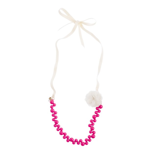 Girls' bauble necklace with flower