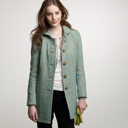 Mint tweed Griffin coat