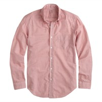 Lightweight chambray shirt in canyon red stripe