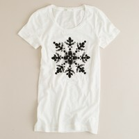 Slub cotton snow-gem tee