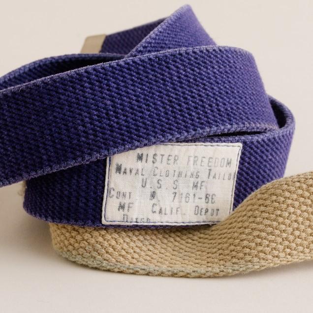 Mister Freedom® parachute stitch web belt
