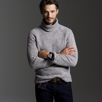 Rustico Tweed Turtleneck