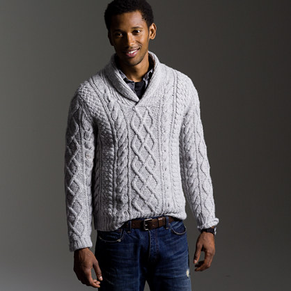 Coastal cable pullover