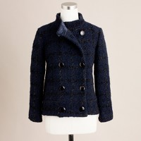Midnight iced houndstooth coat