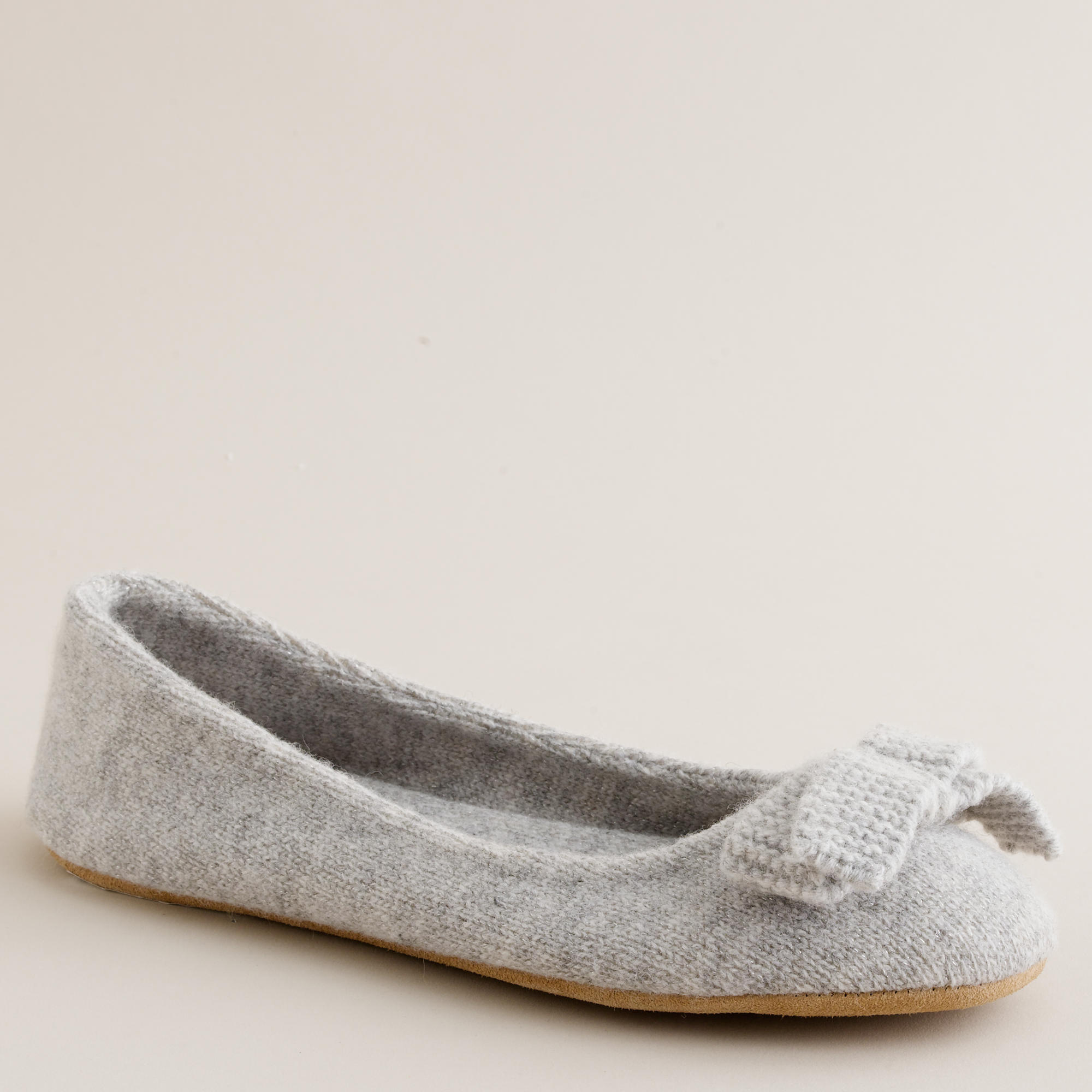 Metallic wool ballet slippers j crew for J crew bedroom slippers