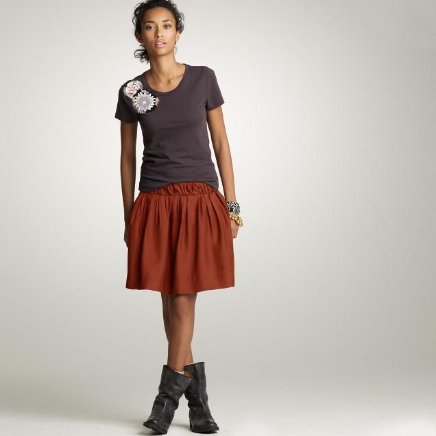 Silk flair skirt
