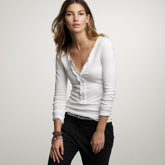 Perfect-fit ruffle henley