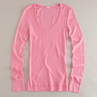Ribbed featherweight scoopneck tee