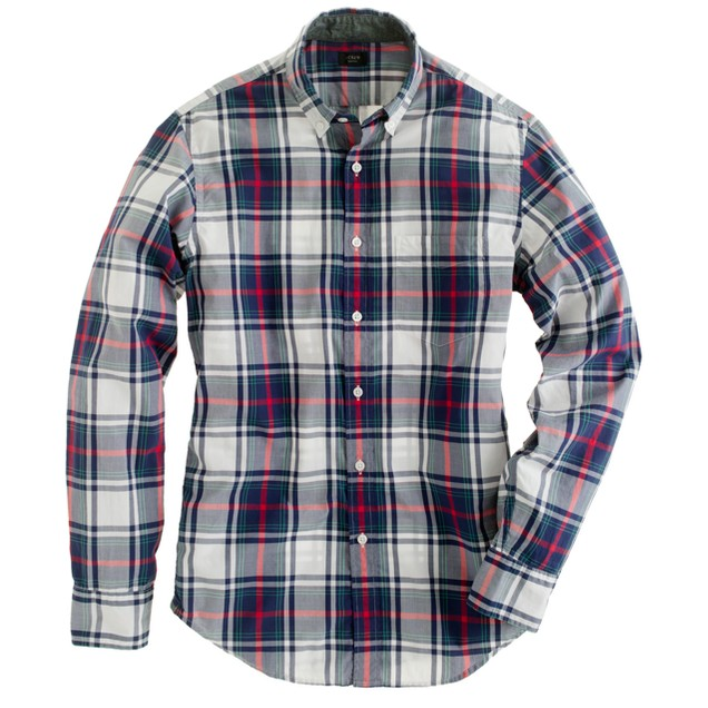 Slim tartan shirt in blue