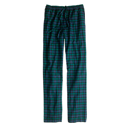 Flannel sleep pant in Black Watch tartan