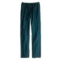 Flannel sleep pant in Black Watch tartan