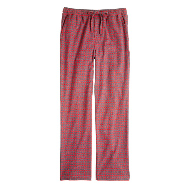 Flannel sleep pant in bright barn check