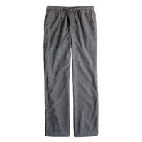 Flannel sleep pant in asphalt microgingham