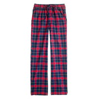 Flannel sleep pant in hillside poppy plaid