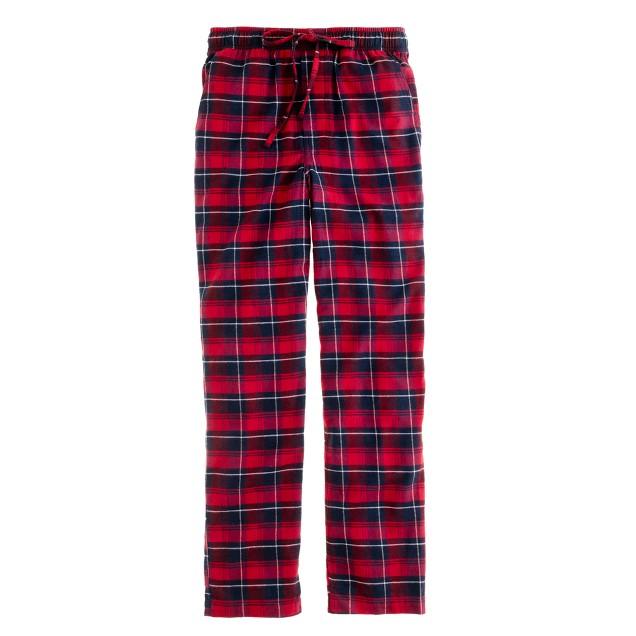 Flannel sleep pant in danbury red check