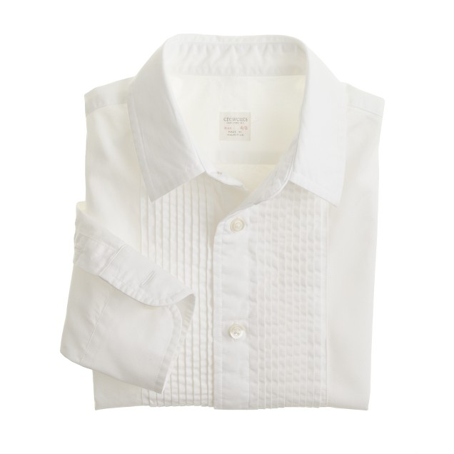 Boys' secret wash tuxedo shirt in poplin