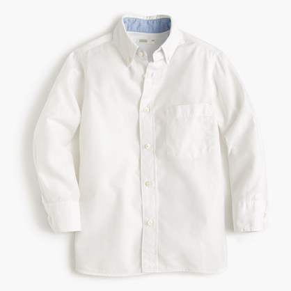 Boys' Secret Wash shirt in cotton poplin