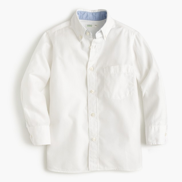Kids' Secret Wash shirt in cotton poplin