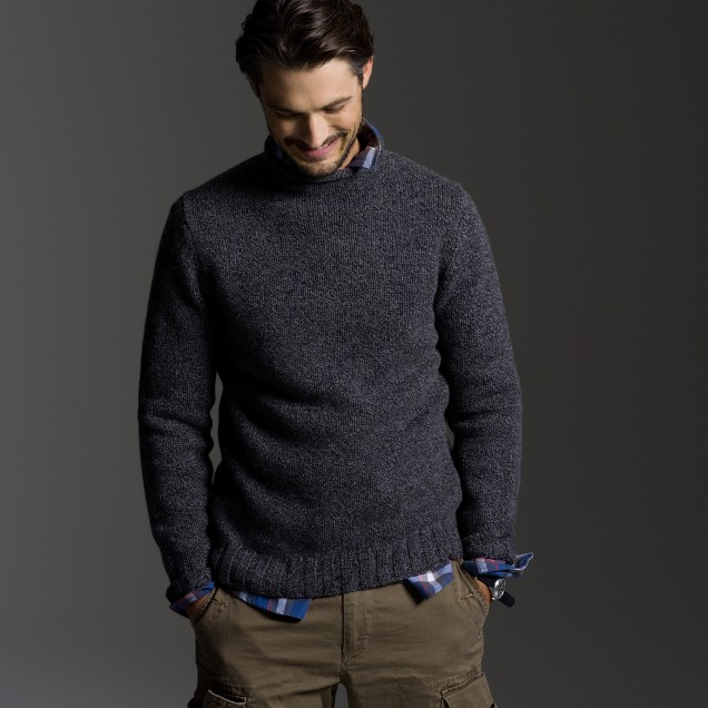 Lambswool marled rollneck
