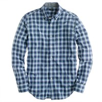 Tartan shirt in baltic blue