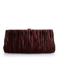 Satin limelight clutch