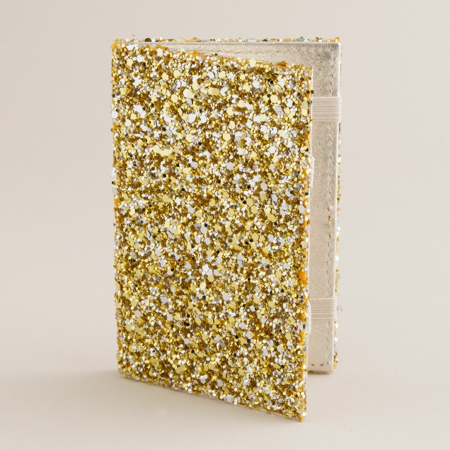 Crushed glitter magic wallet