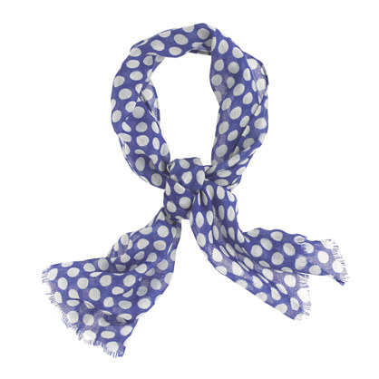 Girls' polka-dot wool scarf