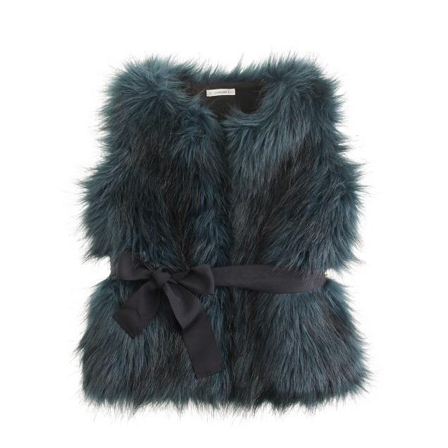 Girls' fiona faux-fur vest