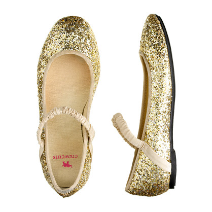 Let your little girl's feet shine in these silver, rhinestone, ballet flats from Forever Link! This silver ballet flat has a striped pattern of iridescent rhinestones throughout. A great .