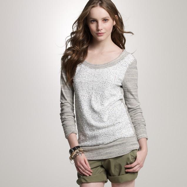 Jaspé sequined slouchy sweatshirt