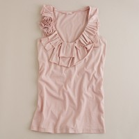 Ruffles and roses tissue tank