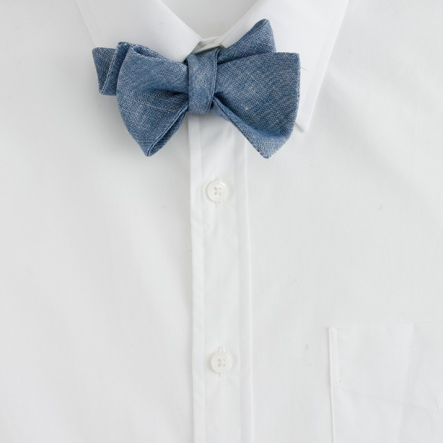 Baird McNutt linen-cotton bow tie