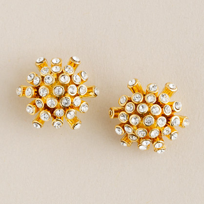 Crystal fireworks earrings