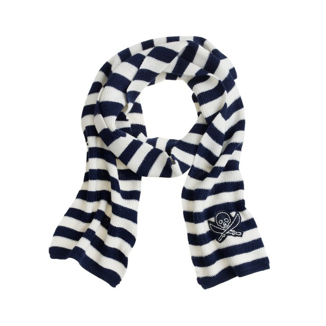 Boys' stripe skull scarf
