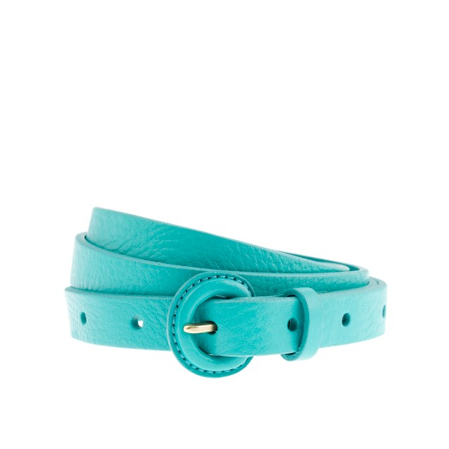 Skinny covered-buckle belt