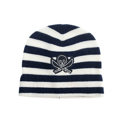 Boys' stripe skull hat