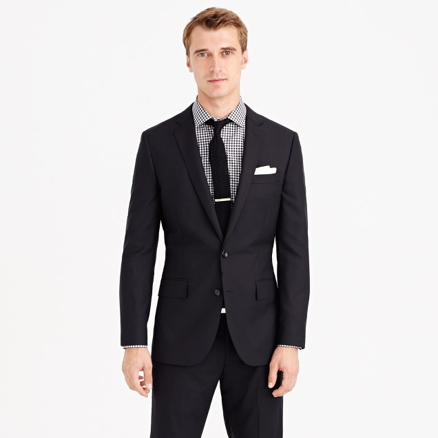 Ludlow suit jacket with center vent in Italian wool