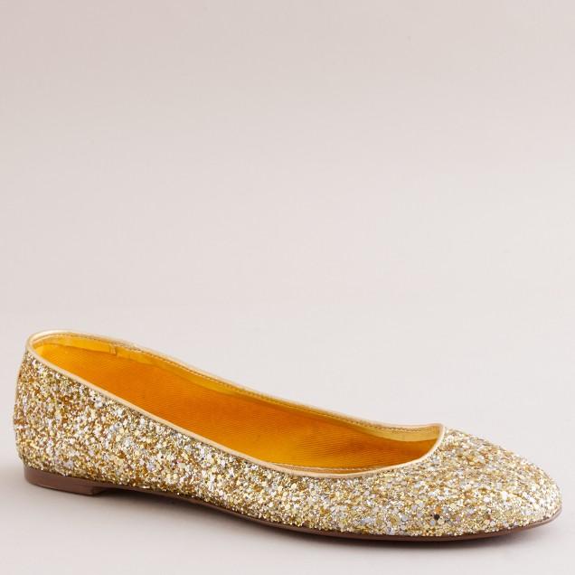 Starlight glitter ballet flats