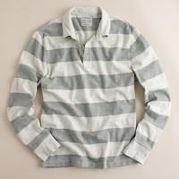 Stripe heavyweight slub jersey rugby shirt