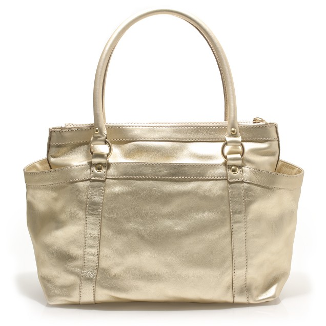 Large metallic Georgie satchel