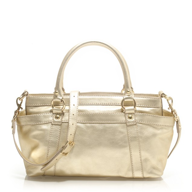 Small metallic Georgie satchel